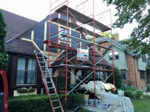 Rotted Wood Stucco Project During 2