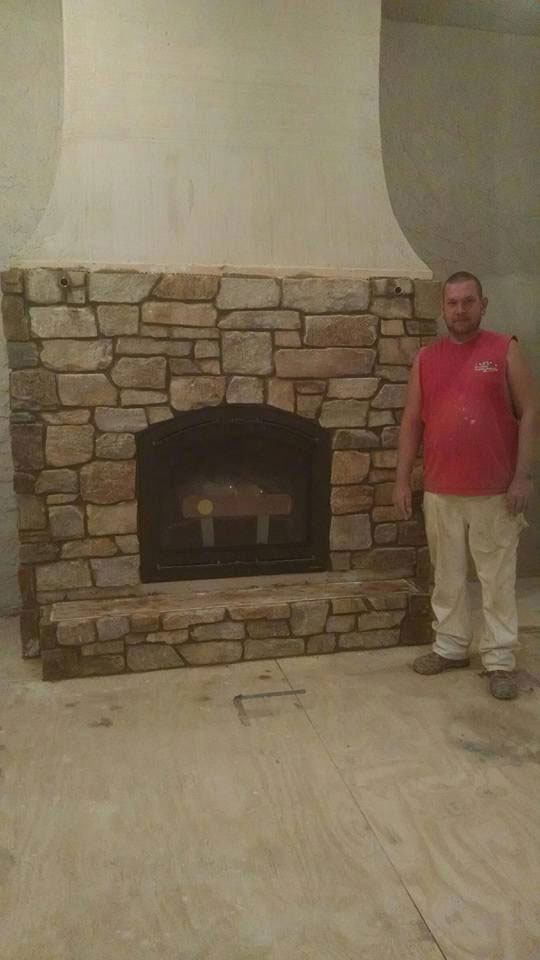 Restaurant Fireplace Mason Brick Project Photo