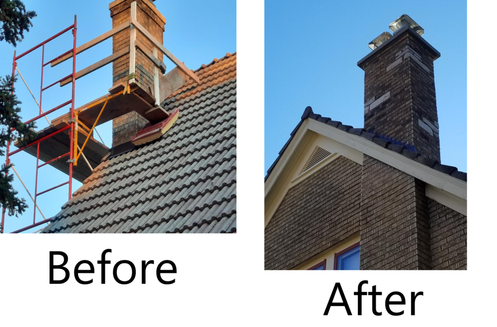 QRS Chimney Before After